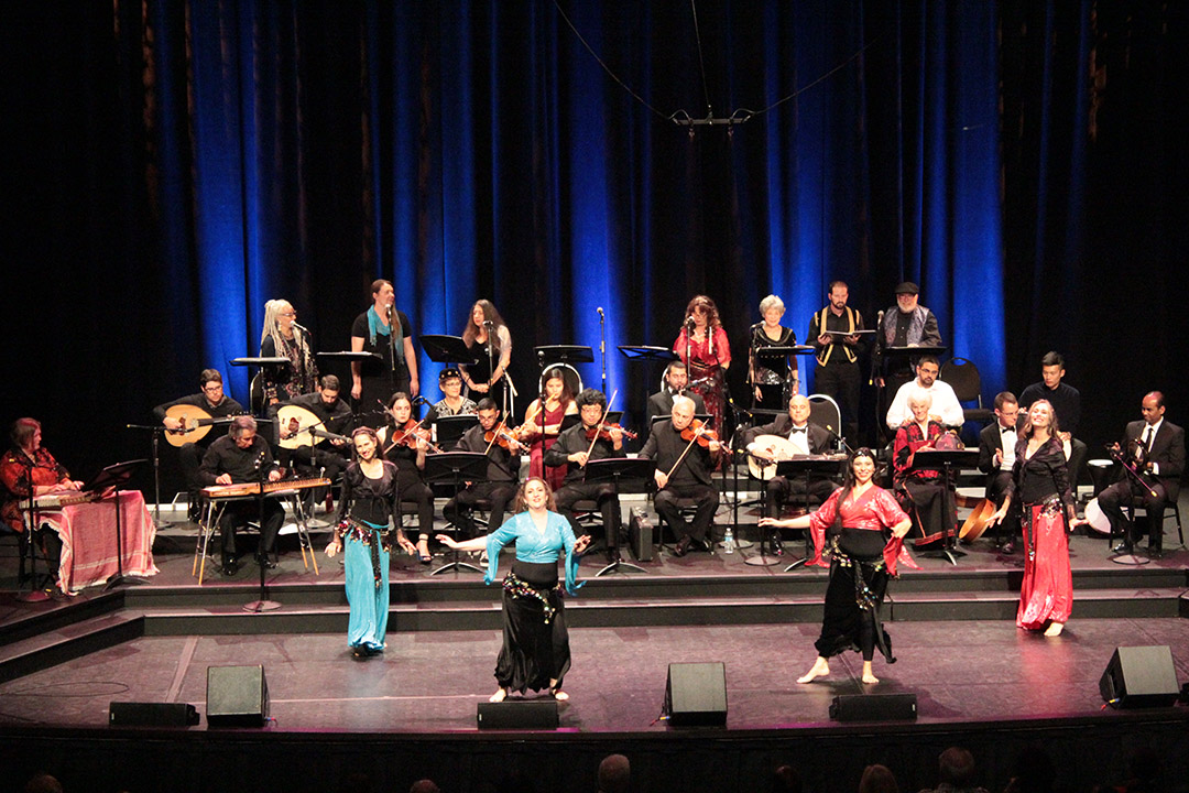 The Arab Music Ensemble performs at past concerts.